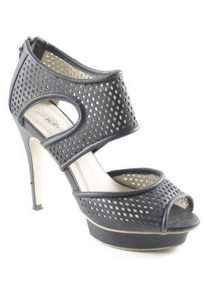 JustFab High Heel Sandaletten schwarz extravaganter Stil