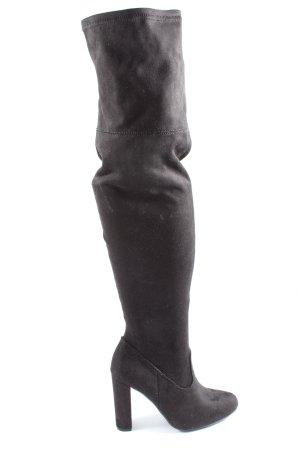 JustFab Stivale con tacco alto nero stile casual