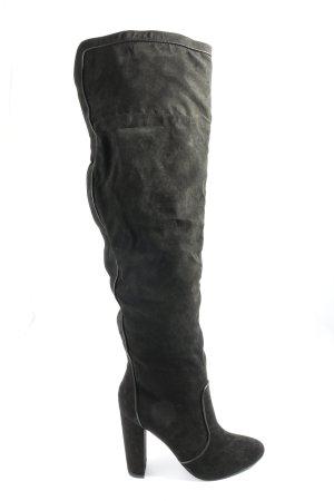 JustFab Botas de tacón alto negro estilo «business»