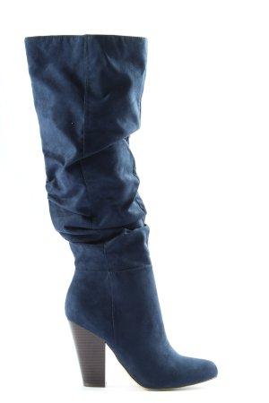 JustFab Botas de tacón alto azul elegante