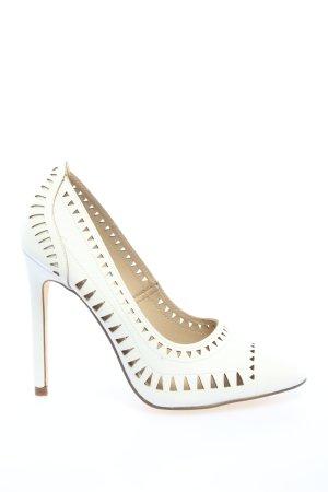 JustFab High Heels weiß Casual-Look