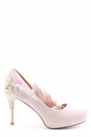 JustFab High Heels pink Blumenmuster Elegant