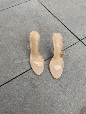 Justfab high heels mit glassabsatz gr 38,5