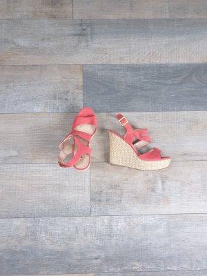 Just Fab Zapatos de cuña salmón
