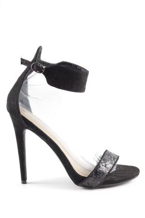 JustFab High Heels schwarz-silberfarben Elegant