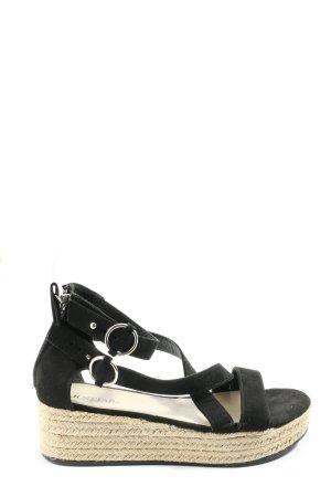 JustFab Komfort-Sandalen schwarz Casual-Look