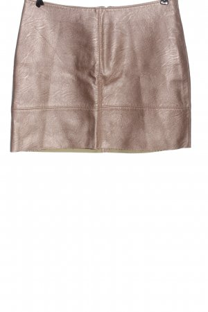 JustFab Faux Leather Skirt bronze-colored casual look
