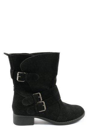 JustFab Krótkie buty czarny W stylu casual