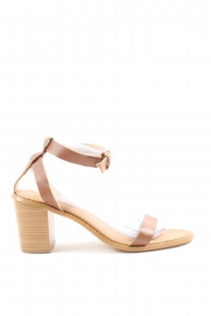 JustFab Riemchen-Sandaletten braun Casual-Look