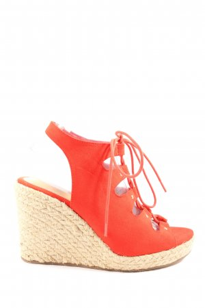 JustFab Platform Sandals red casual look
