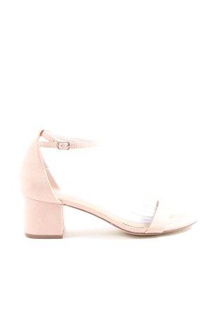 JustFab Plateauzool Sandalen met Hoge Hakken roze casual uitstraling