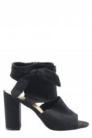 JustFab Platform High-Heeled Sandal black elegant