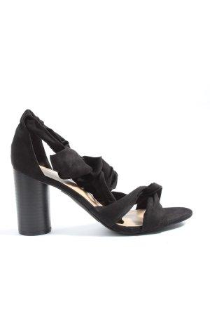 JustFab Plateau-Sandaletten schwarz Elegant