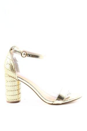 JustFab Riemchen-Sandaletten goldfarben Elegant