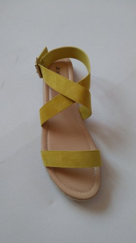 JustFab Espadrille Sandals yellow