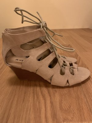 JustFab Roman Sandals light brown