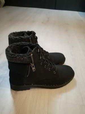 JustFab Botines de invierno negro-gris oscuro