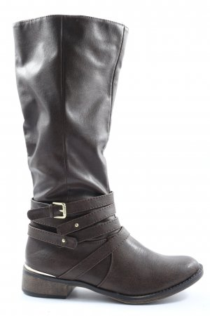 JustFab Wide Calf Boots brown casual look