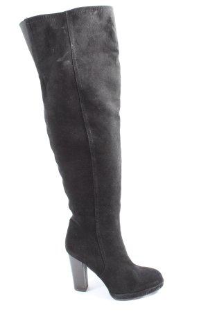 JustFab Wide Calf Boots black casual look