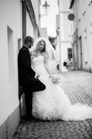 justin alexander Abito da sposa bianco