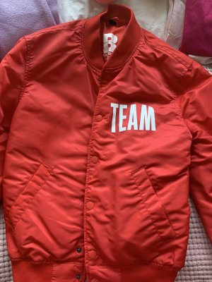 H&M Giacca bomber rosso-bianco
