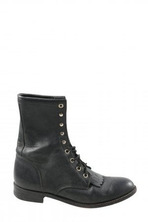 Justin Aanrijg laarzen zwart casual uitstraling