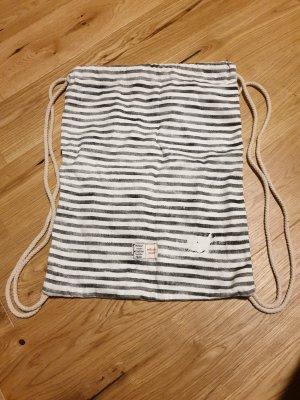 Bolsa de arpillera blanco-gris