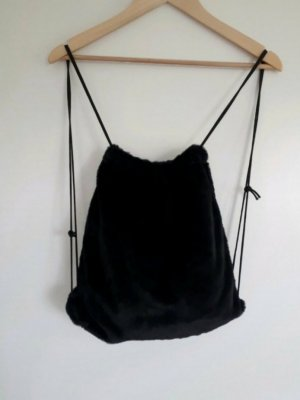 H&M Burlap Bag black