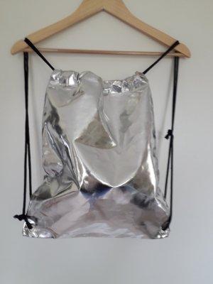 Burlap Bag silver-colored