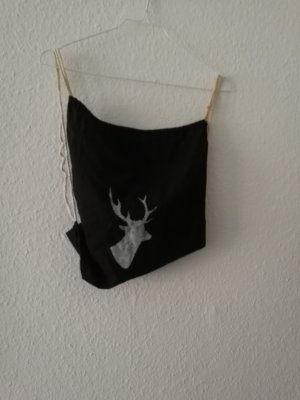 Burlap Bag white-black