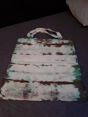 Hand made Burlap Bag multicolored