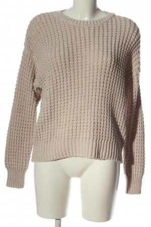 Juvia Szydełkowany sweter w kolorze białej wełny Warkoczowy wzór