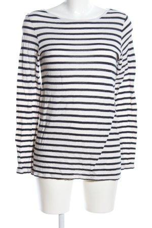 Juvia Longsleeve weiß-schwarz Streifenmuster Casual-Look
