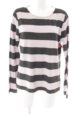 Juvia Pyjama altrosa-dunkelbraun Streifenmuster Casual-Look