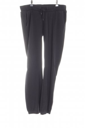 Juvia Pantalon de jogging noir motif rayé style décontracté