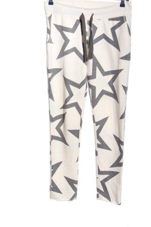 Juvia Pantalon de jogging blanc-gris clair imprimé allover style décontracté