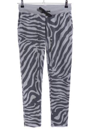 Juvia Pantalon de jogging gris clair-noir motif animal style décontracté
