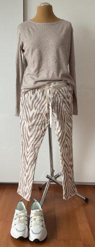 JUVIA Sweatpants Hose Zigzag Zebra Creme beige Gr. L top Zustand NP 139€