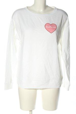 Juvia Sweatshirt weiß-pink Motivdruck Casual-Look