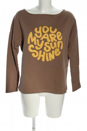Juvia Sweatshirt braun Schriftzug gedruckt Casual-Look