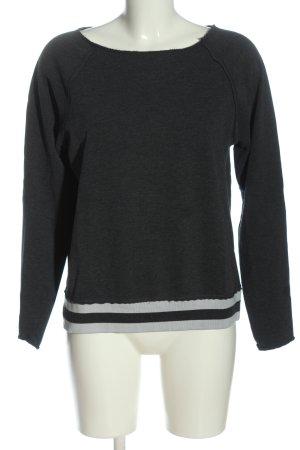 Juvia Sweatshirt schwarz-hellgrau meliert Casual-Look