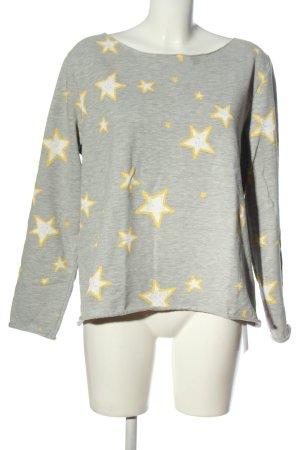 Juvia Sweatshirt Allover-Druck Casual-Look