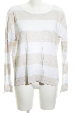 Juvia Sweatshirt weiß-wollweiß Streifenmuster Casual-Look