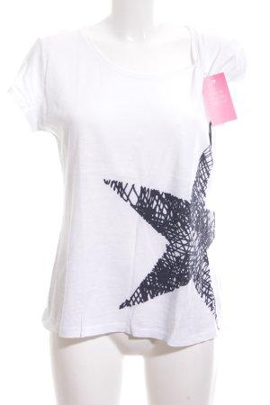 Juvia T-Shirt weiß-schwarz abstraktes Muster Casual-Look
