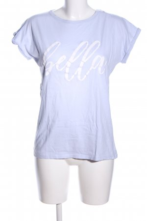 Juvia T-Shirt blau Schriftzug gedruckt Casual-Look