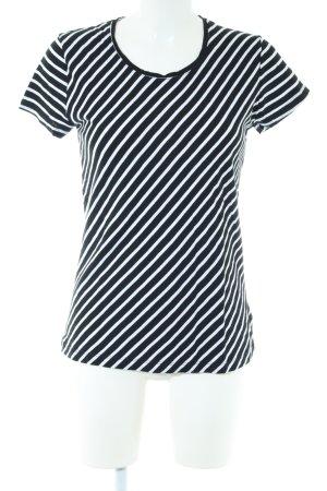 Juvia T-Shirt schwarz-weiß Streifenmuster Casual-Look