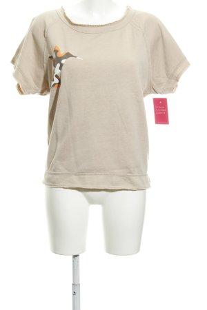 Juvia T-Shirt beige Motivdruck schlichter Stil