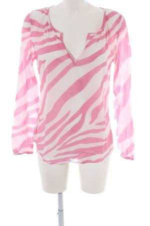 Juvia Tunikabluse pink-weiß abstraktes Muster Casual-Look