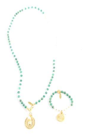 Juwelenkind Halskette grün-goldfarben Casual-Look