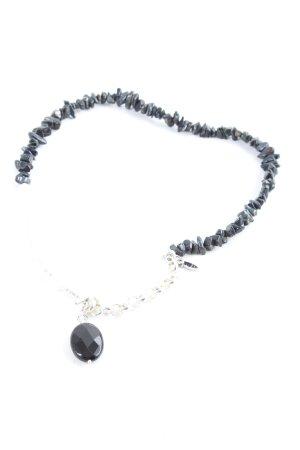 Juwelenkind Naszyjnik czarny-srebrny Elegancki